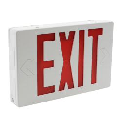 """Sylvania """"Exit"""" Rectangular LED Lighted Sign, 7-1/2""""H x 11-1/2""""W x 1-1/2""""D, Red"""