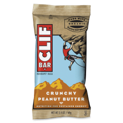 Clif Bar Crunchy Peanut Butter Energy Bar - Individually Wrapped - Peanut Butter - 2.40 oz - 12 / Box