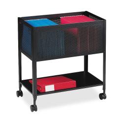 Lorell™ Steel Mesh Hanging Letter-Size Mobile File Cart, Black