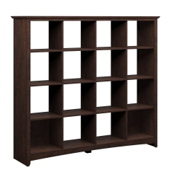 Bush Furniture Buena Vista 16 Cube Bookcase, Madison Cherry, Standard Delivery