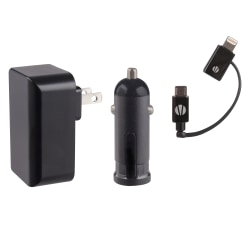 Vivitar® Infinite Wall/Auto Charger Kit For Apple® iPhone®, iPad®, iPod® And Micro USB Devices