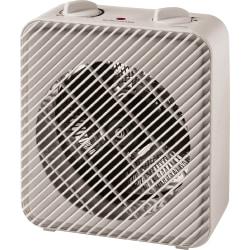 """Lorell Electric Fan Heater, 3 Heat Settings, 8.1""""H x 4.4""""W, White"""