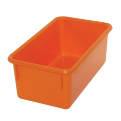 Stowaway® Tray Without Lid, Medium Size, Orange, Pack Of 5