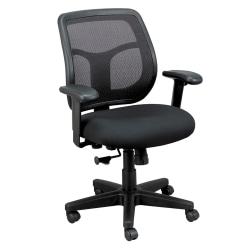 Raynor® Eurotech Apollo Mesh/Fabric Synchro Tilt Task Chair, Black