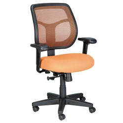 Raynor® Eurotech Apollo Mesh/Fabric Synchro Tilt Task Chair, Orange/Black