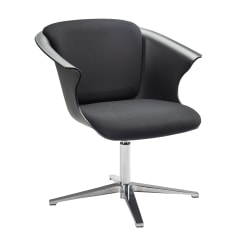 Safco® COSY Social Chair, Black/Chrome