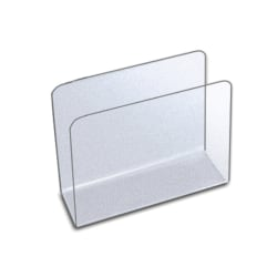 """Azar Displays Medium Lateral Desk File Holders, 6-1/2""""H x 7-3/4""""W x 3-1/2""""D, Clear, Pack Of 4 File Holders"""