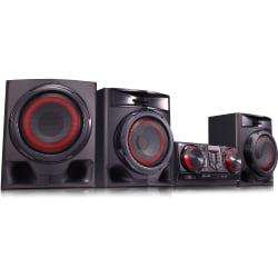 LG CJ45 Mini Hi-Fi System - 720 W RMS - Black - CD Player - 1 Disc(s) - FM, AM - CD-RW - 1440 W PMPO - 2.1 Speaker(s) - CD-DA, MP3, WMA - Bluetooth - USB - Remote Control