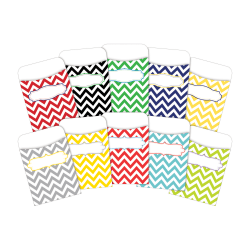 "Barker Creek Peel And Stick Library Pockets, 3"" x 5"", Chevron Beautiful/Chevron Nautical, Pack Of 60 Pockets"