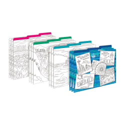 Barker Creek File Folders, Letter Size, Color Me Seattle Design, Pack Of 12 Folders