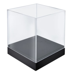 Azar Displays Deluxe Showcase Bin, Medium Size, Clear