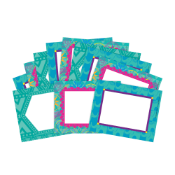 "Barker Creek Name Tags, 3 3/4"" x 2 1/2"", Bohemian, 45 Name Tags Per Pack, Case Of 2 Packs"