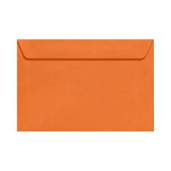 "LUX Booklet Envelopes With Moisture Closure, 6"" x 9"", Mandarin Orange, Pack Of 500"