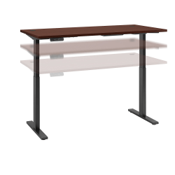 "Bush Business Furniture Move 60 Series 72""W x 30""D Height Adjustable Standing Desk, Harvest Cherry/Black Base, Standard Delivery"