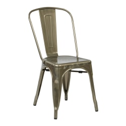 Office Star™ Bristow Armless Chair, Gunmetal, Set Of 4 Chairs