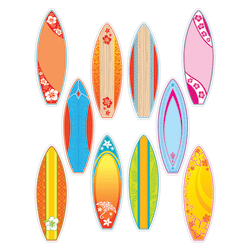 Teacher Created Resources Decorative Accents, Surfboards, Multicolor, Pre-K - Grade 8, Pack Of 30