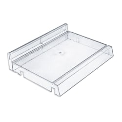 Azar Displays Modular Adjustable Cosmetic Trays, Small Size, Clear, Pack Of 2