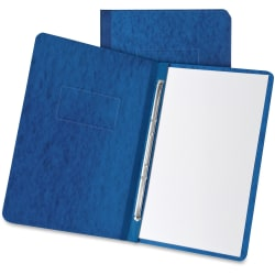 """Oxford Letter Recycled Report Cover - 3"""" Folder Capacity - 8 1/2"""" x 11"""" - 2 x Prong Fastener(s) - Pressboard - Dark Blue - 65% - 1 Each"""