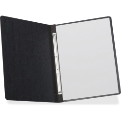 """TOPS Letter Recycled Report Cover - 3"""" Folder Capacity - 8 1/2"""" x 10 63/64"""" - 2 x Prong Fastener(s) - Pressboard - Black - 65% - 1 Each"""