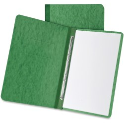 """TOPS Oxford Pressboard Report Covers with Hinge - 3"""" Folder Capacity - Letter - 8 1/2"""" x 11"""" Sheet Size - 2 Fastener(s) - 20 pt. Folder Thickness - Pressboard - Dark Green - Recycled - 1 Each"""