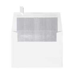 """LUX Invitation Envelopes With Peel & Press Closure, A6, 4 3/4"""" x 6 1/2"""", Silver/White, Pack Of 250"""