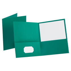 Esselte® Letter-Size Twin-Pocket Report Covers, Teal, Box Of 25