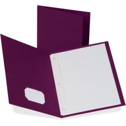 "Oxford® Twin-Pocket Portfolio With Fasteners, 8 1/2"" x 11"", Burgundy, Pack Of 25"