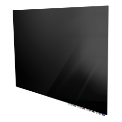 "Ghent Aria Magnetic Low-Profile 1/4"" Glassboard Set, 48"" x 60"", Black"