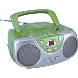 Sylvania Portable CD Radio - 1 x Disc - Green - 20 Programable Tracks - CD-DA