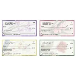 "Personal Wallet Checks, 6"" x 2 3/4"", Singles, Soft Petals, Box Of 150"
