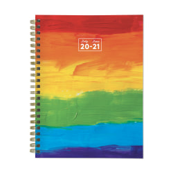 "TF Publishing Medium Academic Weekly/Monthly Planner, 6"" x 8"", Rainbow Paint, July 2020 To June 2021"