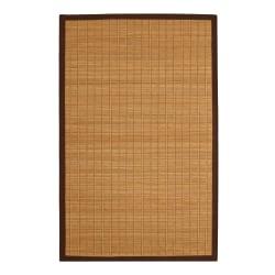 """Anji Mountain Pearl River Bamboo Rug, 60"""" x 96"""", Brown"""