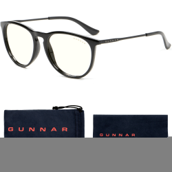 Gunnar Optiks Blue Light Blocking Menlo - Computer Glasses - Onyx - Liquet - Onyx Frame/Liquet Lens - Onyx Frame/Liquet Lens