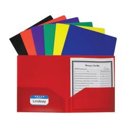 C-Line® 2-Pocket Poly Portfolios, Assorted Colors, Pack Of 36