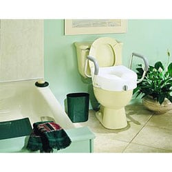 E-Z Lock™ Raised Toilet Seat, With Arms