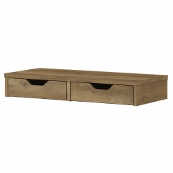 Bush Furniture Cabot Desktop Organizer With Drawers, Reclaimed Pine, Standard Delivery