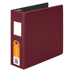 "Wilson Jones® Heavy-Duty 3-Ring Binder, 3"" D-Rings, 42% Recycled, Dark Red"