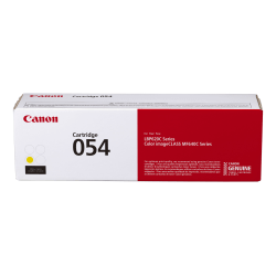 Canon Genuine 054 Toner Cartridge, Yellow, CRG 054 Y (3021C001)