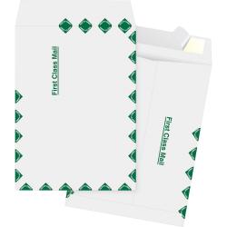"""Business Source DuPont Tyvek Catalog Envelopes - Document - 9"""" Width x 12"""" Length - Peel & Seal - Tyvek - 100 / Box - White"""