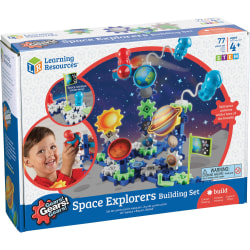 Gears! Gears! Gears! Space Explorers Building Set - Skill Learning: Visual, Counting, Sorting, Matching, Patterning, Problem Solving, Critical Thinking, Sequential Thinking, Cause & Effect, Spatial Relation, Creativity, ... - 4 Year & Up - 77 Pieces