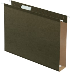 Pendaflex® Box-Bottom Hanging File Folders, Letter Size, 100% Recycled, Standard Green, Box Of 25 Folders