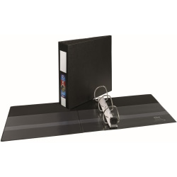 "Avery® Heavy-Duty Binders With One-Touch EZD™ Ring, 8 1/2"" x 11"", 3"" Rings, 42% Recycled, Black"