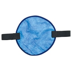 Ergodyne Chill-Its® 6715CT Evaporative Hard Hat Pads With Cooling Towels, Blue, Pack Of 6 Towels