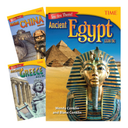 Teacher Created Materials TIME®: You Are There! Ancient Times 3-Book Set, Grade 6