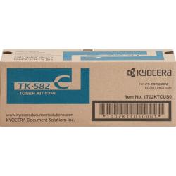 Kyocera TK-582C Original Toner Cartridge - Laser - 2800 Pages - Cyan - 1 Each