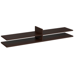 "Bush Business Furniture Components Elite Standing Table Desk Shelf Kit, 72""W x 12 1/2""D, Mocha Cherry, Standard Delivery Services"