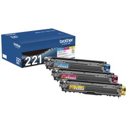 Brother® TN221 Cyan/Magenta/Yellow Toner Cartridges, Pack Of 3 Cartridges