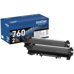 Brother® TN760 High-Yield Black Toner Cartridges, Pack Of 2 Cartridges