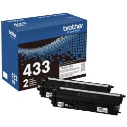 Brother® TN433 High-Yield Black Toner Cartridges, Pack Of 2 Cartridges