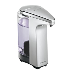 simplehuman Compact Sensor Pump For Soap, Lotion Or Sanitizer, 8 fl. oz., Brushed Nickel